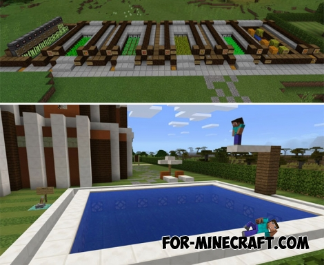 Comfortable Mansion for Minecraft PE 1.2+