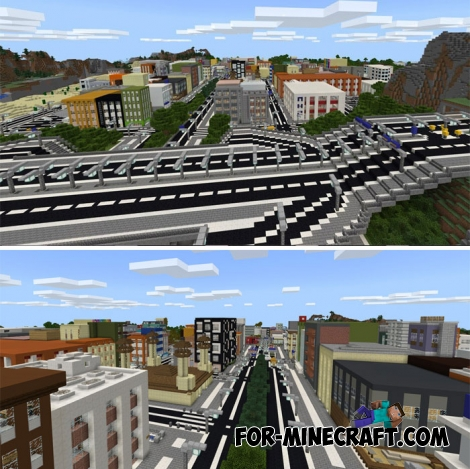 Footscray City map for Minecraft PE 1.X
