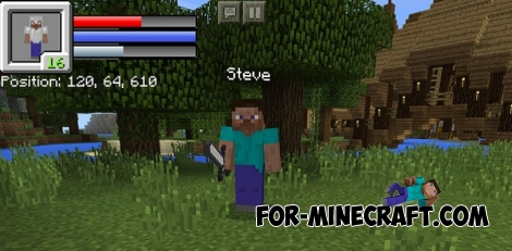 New HUD for Minecraft PE