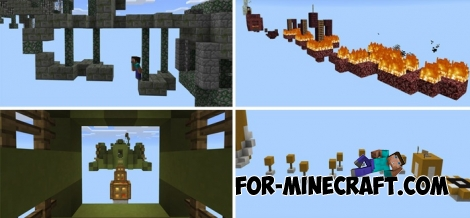 Ghost Parkour map for Minecraft PE 1.1+