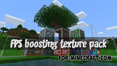 FPS boosting texture pack for MCPE 1.X