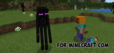 Friendly Enderman addon for MCPE 1.2+