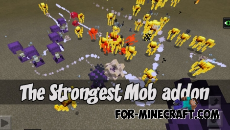 The Strongest Mob addon for MCPE 1.X