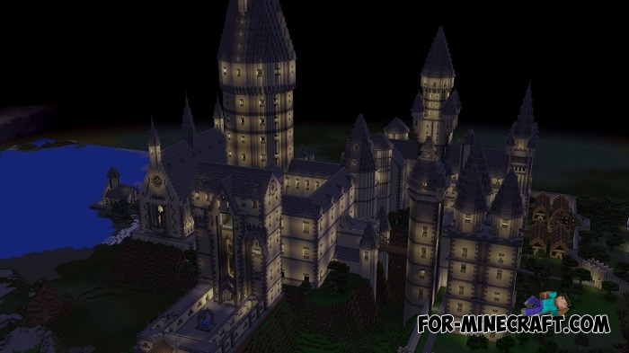 hogwarts school  best replica  for minecraft pe