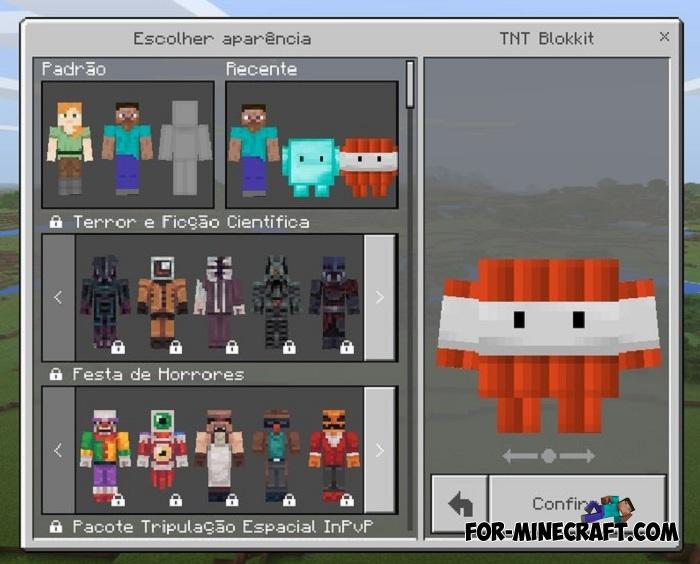 Blokkit Skin Pack For MCPE Bedrock - Skins para minecraft the walking dead