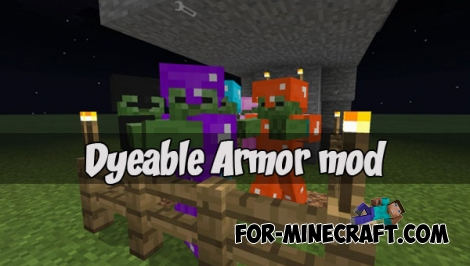 Dyeable Armor mod for MCPE 1.2