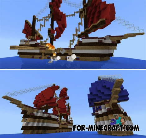 Sea Fight map for Minecraft PE