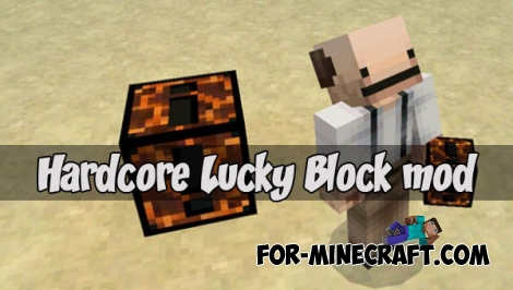 Hardcore Lucky Block mod for Minecraft PE