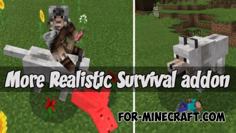 More Realistic Survival addon (MCPE 1.2)