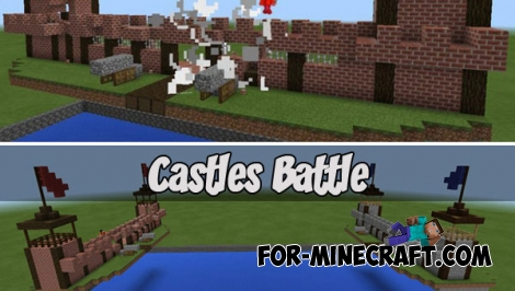Castles Battle map (MCPE 1.2.5)