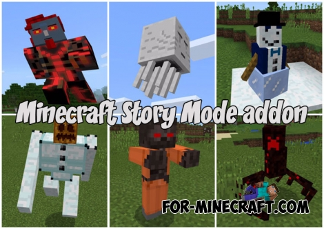 Minecraft Story Mode addon v4 for MCPE