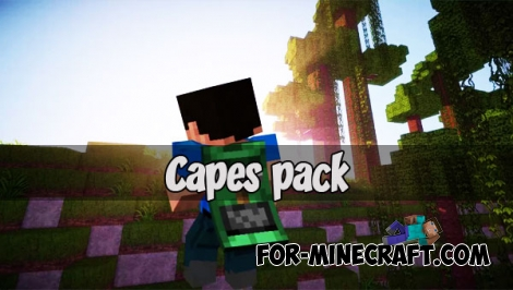Capes pack for Minecraft Bedrock 1.2.5