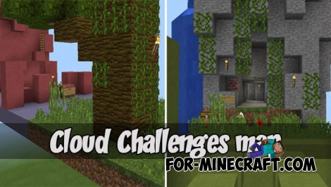 Cloud Challenges map for MCPE 1.2