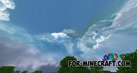 Cloudy Skybox / Realistic Sky (MCPE 1.2+)