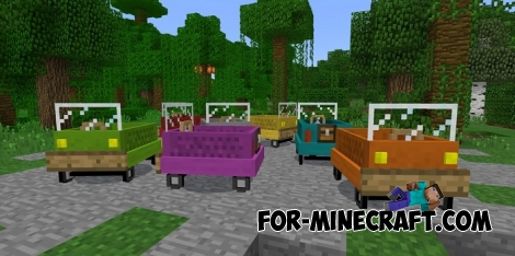 Vehicle Pack v2 for Minecraft PE (Bedrock)
