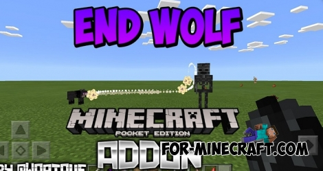 End Wolf addon for MCPE (Bedrock) 1.2.X