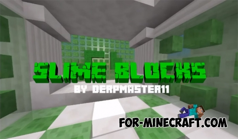 Slime Parkour map for Minecraft PE 1.2