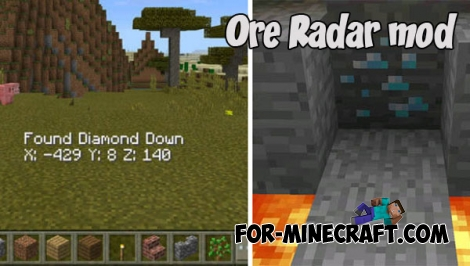 Ore Radar mod for MCPE 1.X