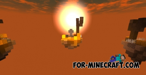 Halloween Skywars map for Minecraft PE 1.2