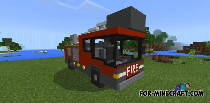 minecraft how to make a fire truck