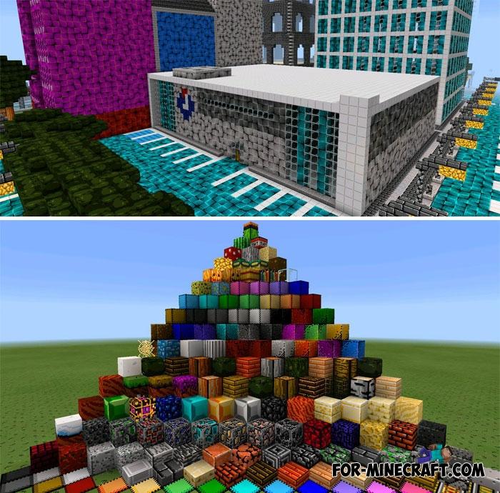 pixel texture pack for minecraft pe bedrock