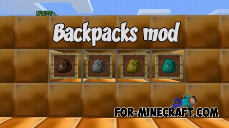 Backpacks mod for Minecraft PE Bedrock (IC)