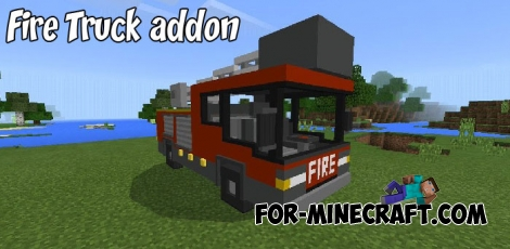 Fire Truck addon for Minecraft PE
