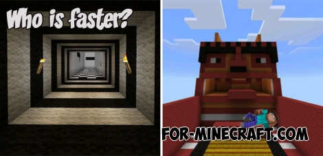 Who is faster? map for Minecraft PE Bedrock 1.2