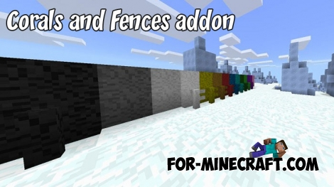 Corals and Fences addon for MCPE 1.2