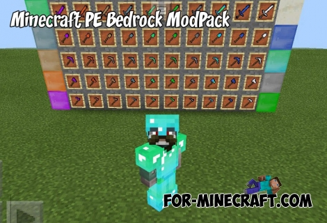 Minecraft PE Bedrock ModPack (9 in 1) (IC)