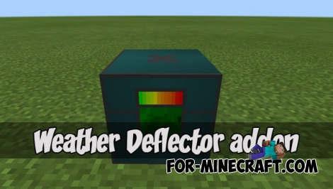 Weather Deflector addon (Minecraft PE) (IC)