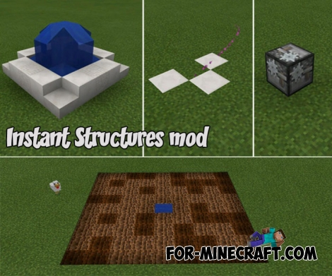 Instant Structures mod for MCPE Bedrock