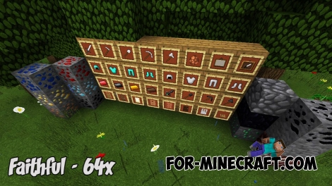 Faithful (64x) for Minecraft PE Bedrock (IC)