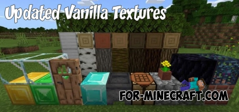 Updated Vanilla Textures v2 (Minecraft 1.13) for MCPE 1.2
