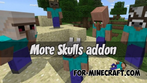 More Skulls for Minecraft PE 1.2