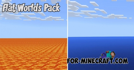 Flat Worlds Pack for MCPE 1.2.8