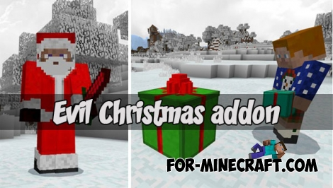 Evil Christmas addon for MCPE 1.2.X