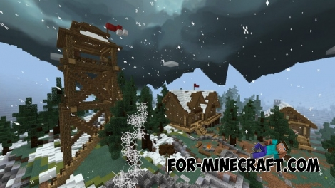 SnowStorm Simulator map for Minecraft Bedrock