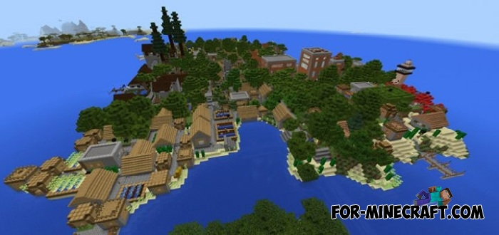 caden islands map for minecraft bedrock 1 2