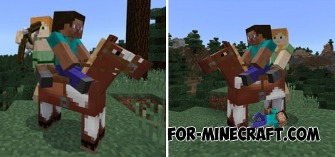 Realistic Horse addon for MCPE 1.2