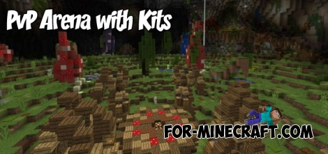 PvP Arena with Kits for Minecraft PE 1.2