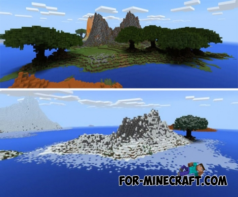 Archipelago map for Minecraft Bedrock