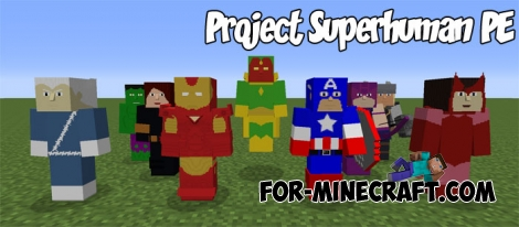 Project Superhuman PE Mod for Minecraft PE 1.2