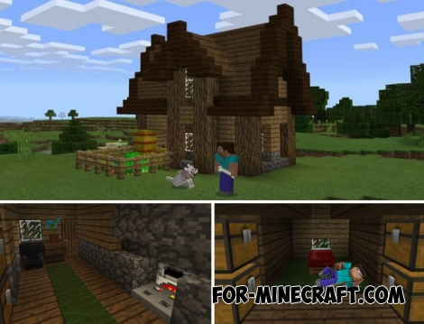 The Peasant House map for Minecraft Bedrock