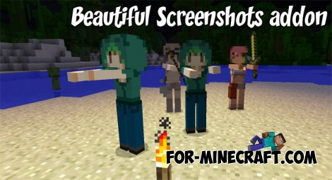 Beautiful Screenshots addon for Minecraft PE 1.2