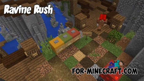Ravine Rush map for MCPE 1.2.9