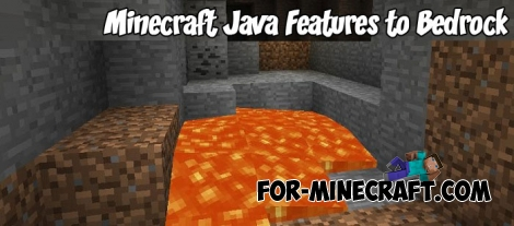 Minecraft Java Features to Bedrock pack v2.2.1 (MCPE 1.2/1.5)