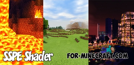 SSPE shader pack v15.4 for Minecraft PE 1.0/1.2