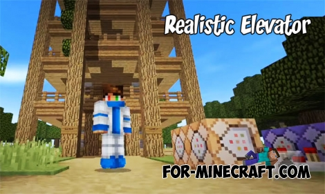 Realistic Elevator map for Minecraft PE 1.2