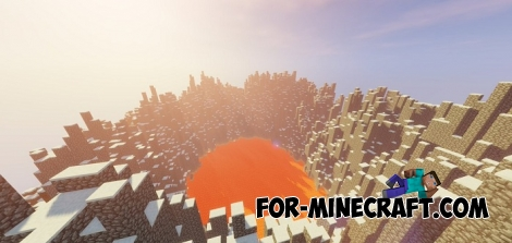 The Giant Volcano map for Minecraft BE